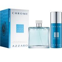 Azzaro Chrome Подарочный набор (туалетная вода 100 мл + дезодорант-спрей 150 мл)