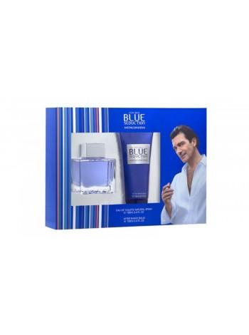 Antonio Banderas Blue Seduction for Men Подарочный набор (туалетная вода 100 мл + бальзам после бритья 75 мл)