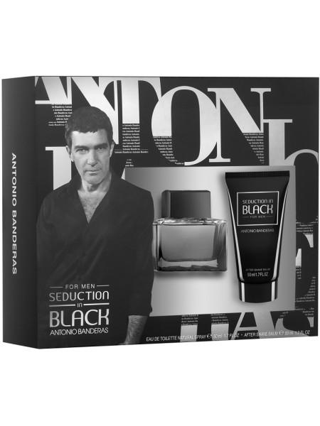 Antonio Banderas Seduction in Black Подарочный набор (туалетная вода 50 мл + бальзам после бритья 50 мл)