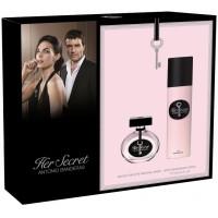 Antonio Banderas Her Secret Подарочный набор (туалетная вода 50 мл + дезодорант-спрей 150 мл)