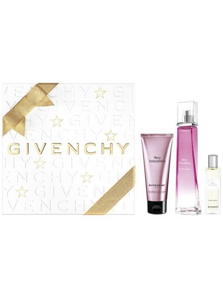Givenchy Very Irresistible Eau de Toilette Подарочный набор (туалетная вода 75 мл + лосьон для тела 75 мл + миниатюра 15 мл)