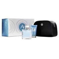Azzaro Chrome Подарочный набор (туалетная вода 50 мл + гель для душа 50 мл + косметичка)