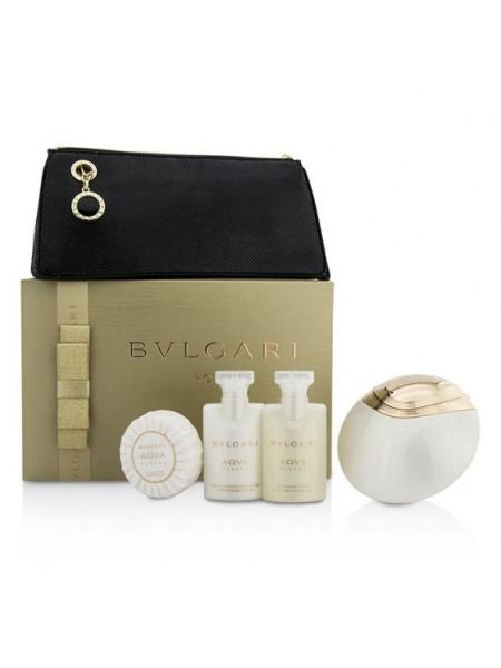 Bvlgari Aqva Divina Подарочный набор (туалетная вода 65 мл + лосьон для тела 40 мл + гель для душа 40 мл + мыло 50 г + сумка)