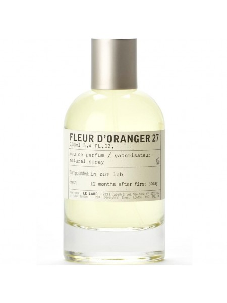 Le Labo Fleur d'Oranger 27 тестер (парфюмированная вода) 100 мл