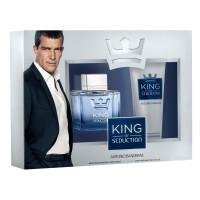 Antonio Banderas King of Seduction Подарочный набор (туалетная вода 100 мл + бальзам после бритья 75 мл)