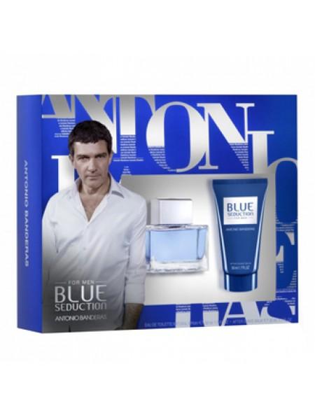 Antonio Banderas Blue Seduction for Men Подарочный набор (туалетная вода 50 мл + бальзам после бритья 50 мл)