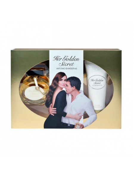 Antonio Banderas Her Golden Secret Подарочный набор (туалетная вода 80 мл + лосьон для тела 100 мл)