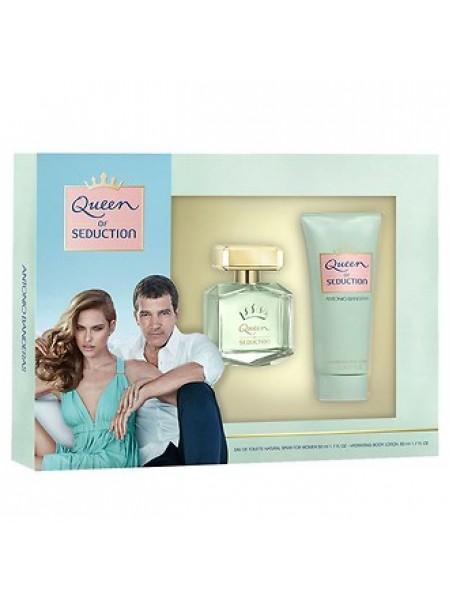 Antonio Banderas Queen of Seduction Подарочный набор (туалетная вода 80 мл + лосьон для тела 75 мл)