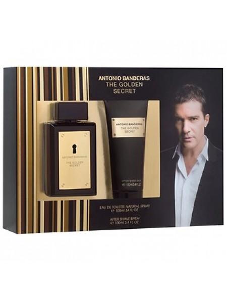 Antonio Banderas The Golden Secret Подарочный набор (туалетная вода 100 мл + бальзам после бритья 100 мл)