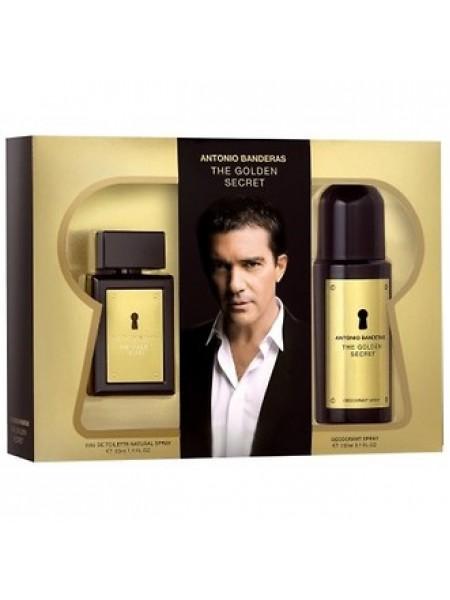 Antonio Banderas The Golden Secret Подарочный набор (туалетная вода 100 мл + дезодорант спрей 150 мл)