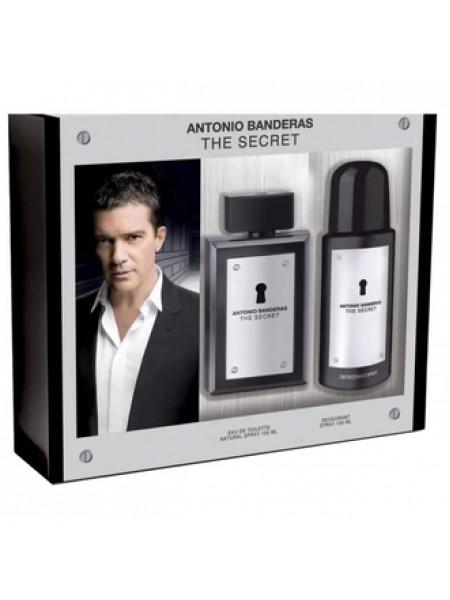 Antonio Banderas The Secret Подарочный набор (туалетная вода 100 мл + дезодорант-спрей 150 мл)