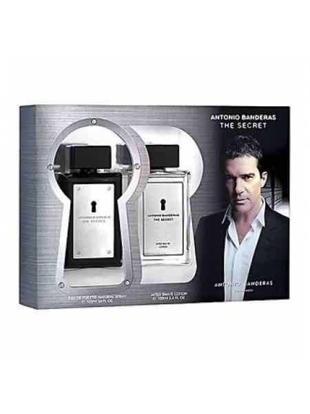Antonio Banderas The Secret Подарочный набор (туалетная вода 100 мл + лосьон после бритья 100 мл)