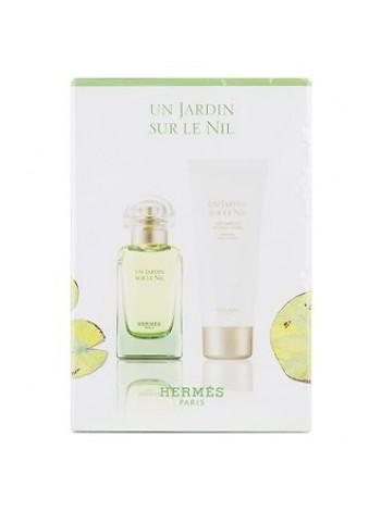 Hermes Un Jardin Sur le Nil Подарочный набор (туалетная вода 50 мл + лосьон для тела 75 мл)