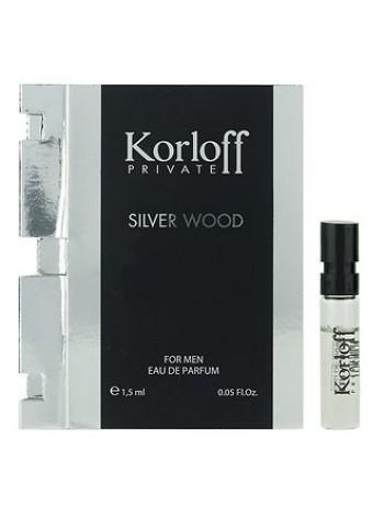 Korloff Silver Wood пробник 1.5 мл