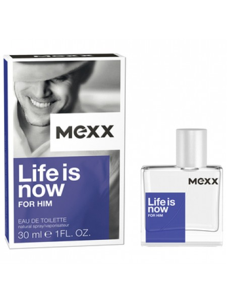Mexx Life is Now for Him туалетная вода 30 мл