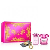 Versace Bright Crystal Absolu подарочный набор (парфюмированная вода 90 мл + лоьсон для тела 100 мл + бирка)