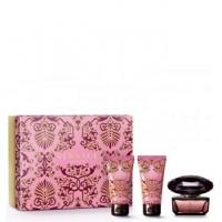Versace Crystal Noir подарочный набор (туалетная вода 50 мл + лосьон для тела 50 мл + миниатюра 10 мл)