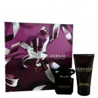 Versace Crystal Noir подарочный набор (туалетная вода 90 мл + лосьон для тела 100 мл + клатч)