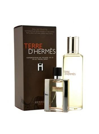 Terre d'Hermes Eau De Toilette Набор (туалетная вода Travel Spray 30 мл + туалетная вода Refill 125 мл)