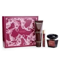 Versace Crystal Noir Подарочный набор (парфюмированная вода 90 мл + лосьон для тела 100 мл + миниатюра 10 мл)